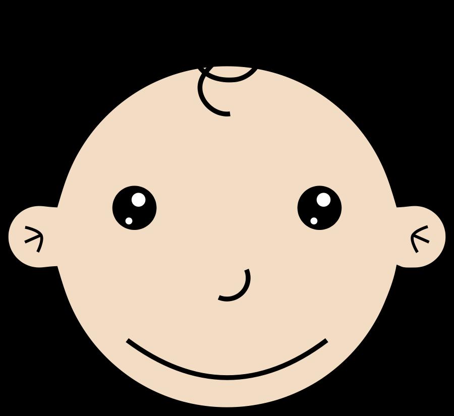Smiling baby medium 600pixel clipart, vector clip art