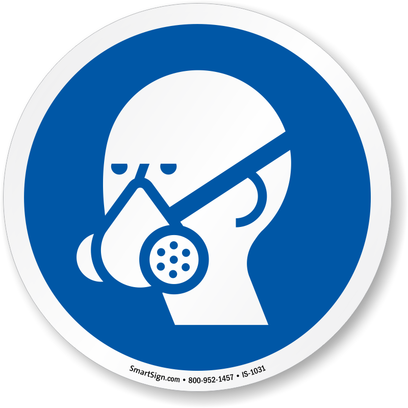 Wear Vapor Respirator Symbol - ISO Mandatory Sign, SKU: IS-1031 ...: cliparts.co/ppe-icons