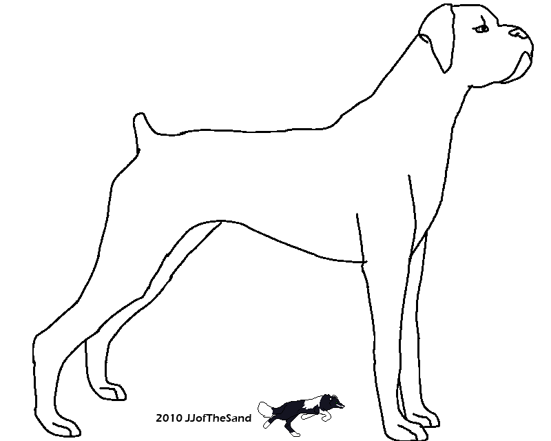 Line Drawing Of A Boxer Dog : Dog line art cliparts