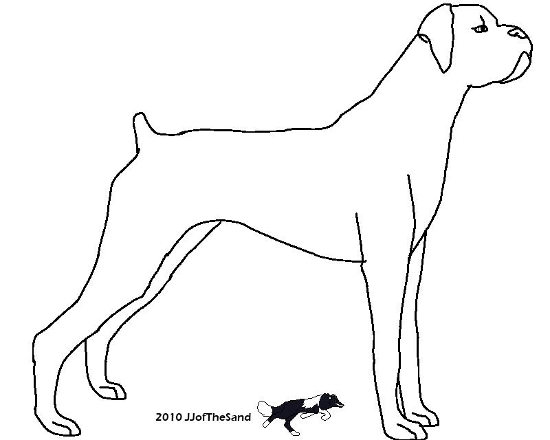 Free Dog Line Drawings Clip Art