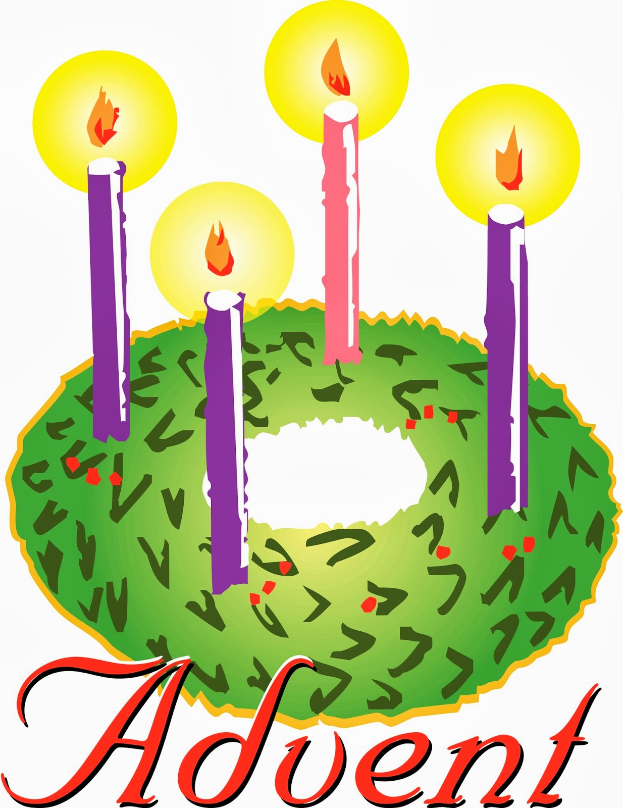 Images For > Blue Advent Candles Clip Art
