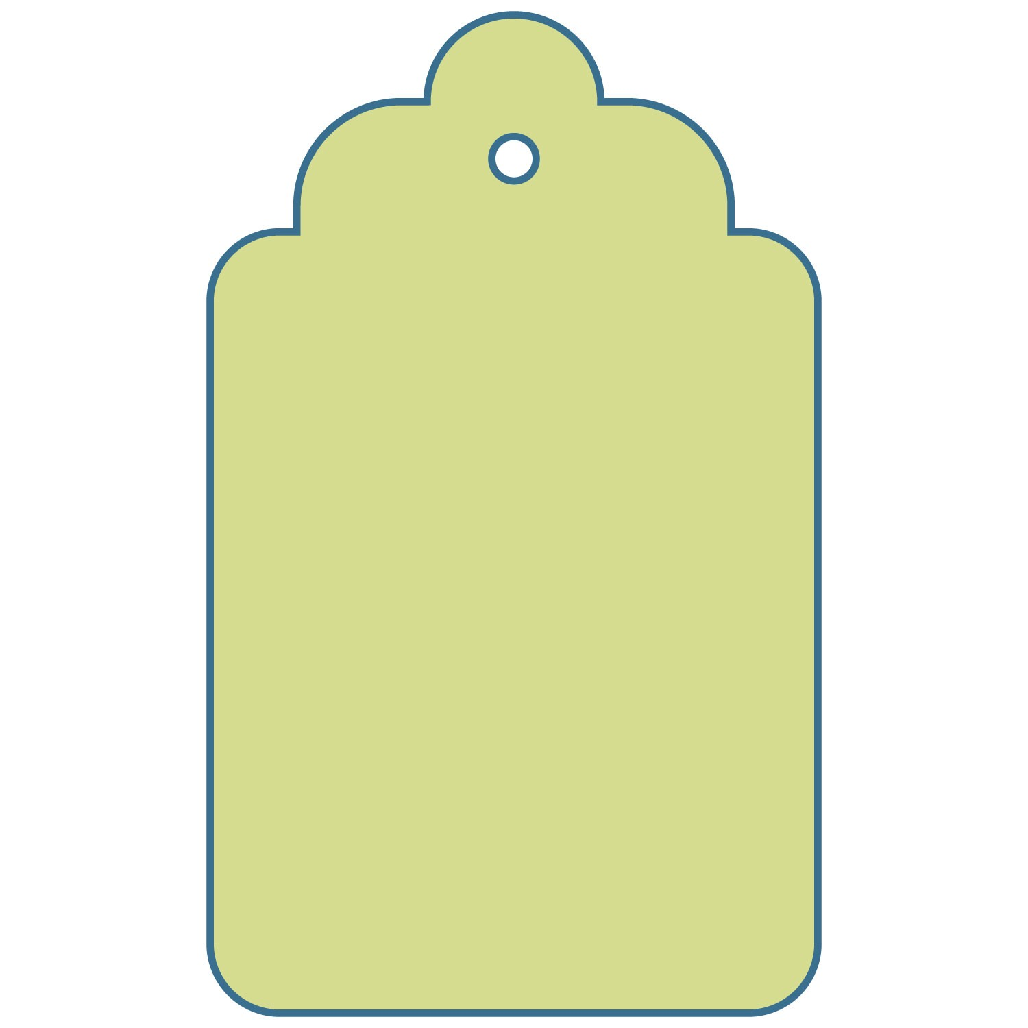 Gift Tag Outline - Cliparts.co