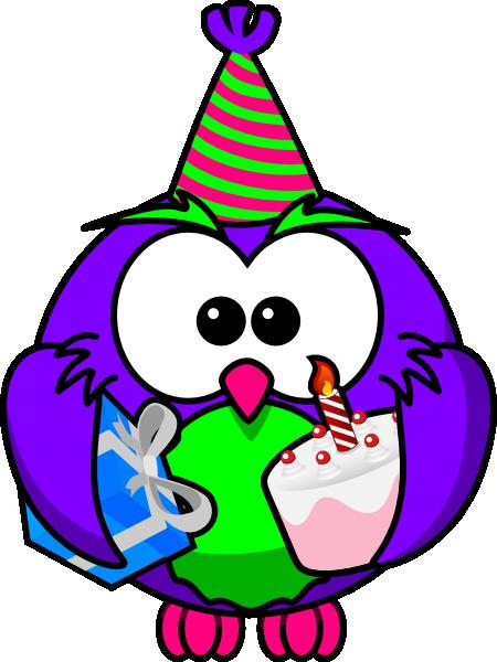 Birthday Owl clip art - vector clip art online, royalty free ...