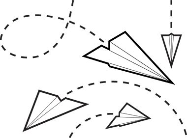 Paper Airplane Flying | Clipart Panda - Free Clipart Images