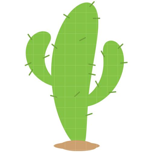 Cactus Clip Art - Quarter Clipart