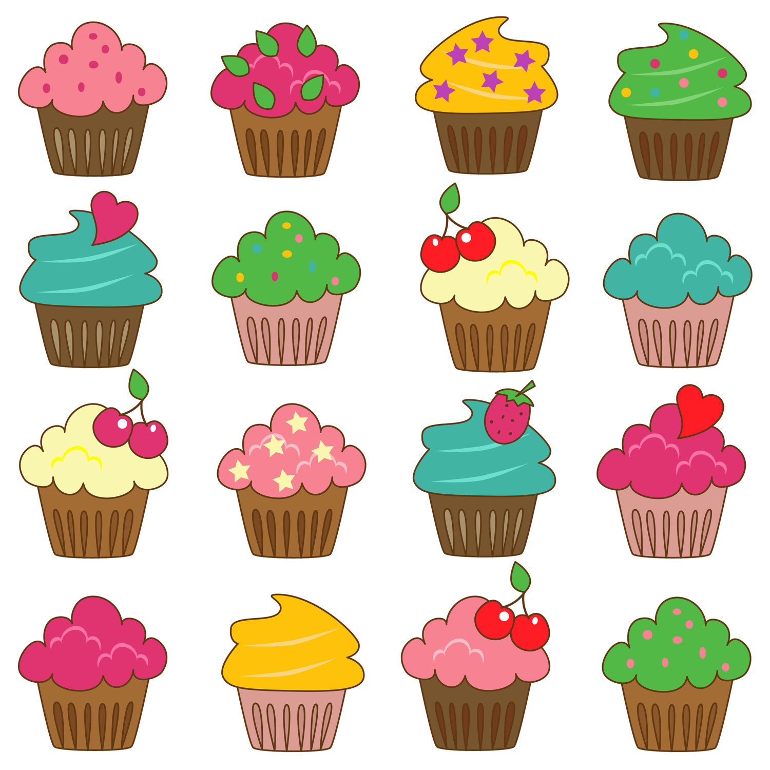 Best Cupcake Images : Cartoon Cupcake Clipart - Cliparts.co