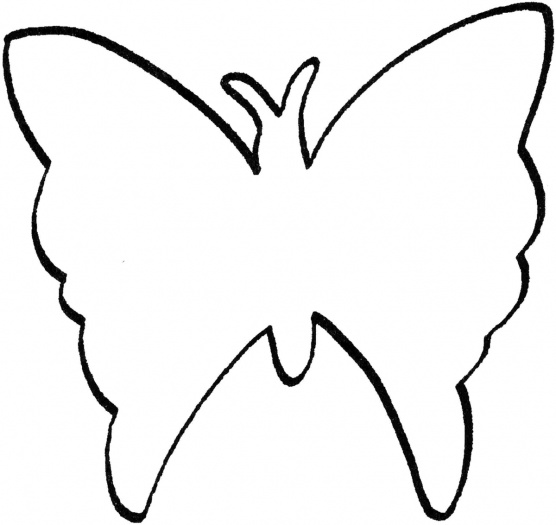 Butterfly Outline Pattern - Cliparts.co