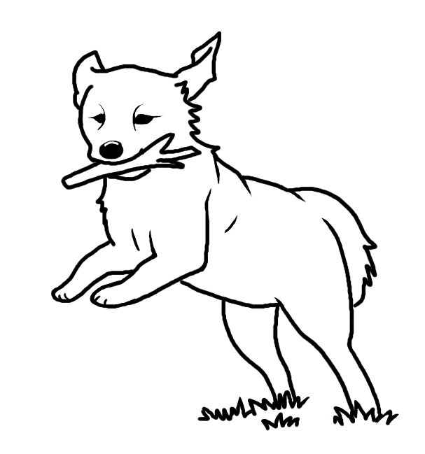 Line Drawing Of Dog : Dog line art cliparts