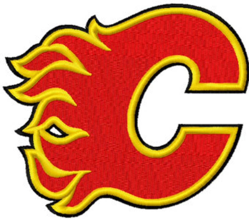 Calgary Flames Logo Hockey Machine Embroidery Design In 4 Sizes ...