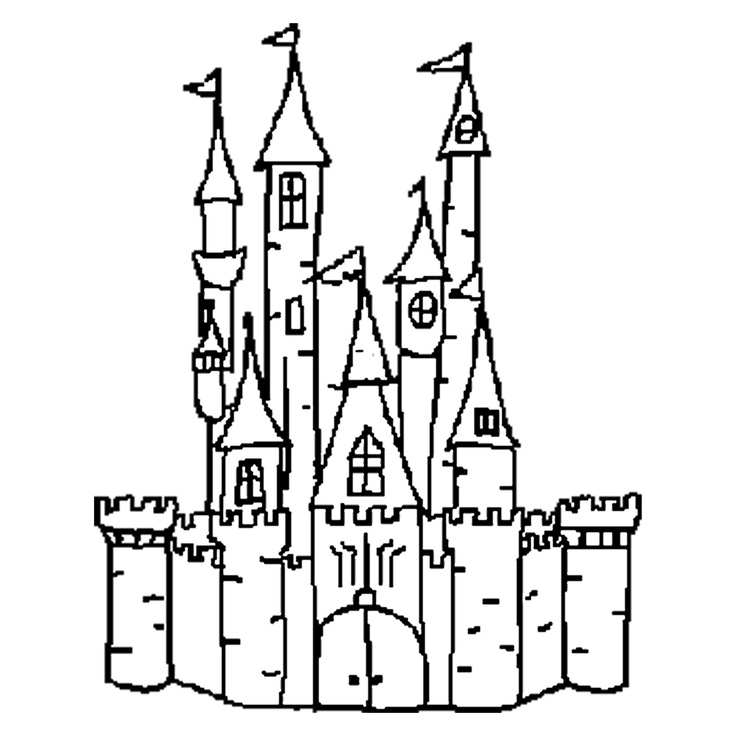Disney Logo Coloring Pages : Disney castle logo outline images pictures becuo