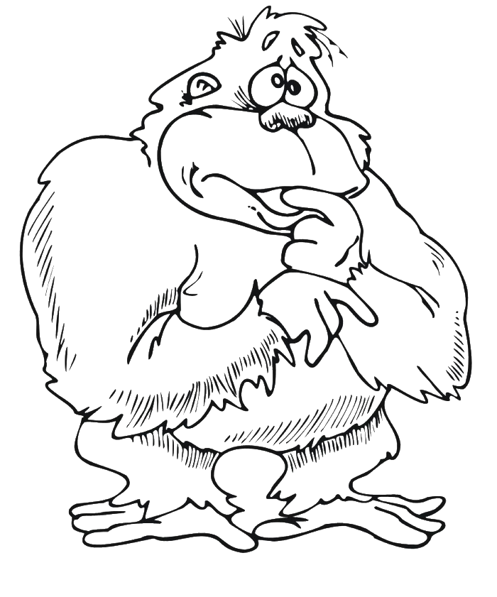Cartoon Orangutan Cliparts Co Orangutan Coloring Pages