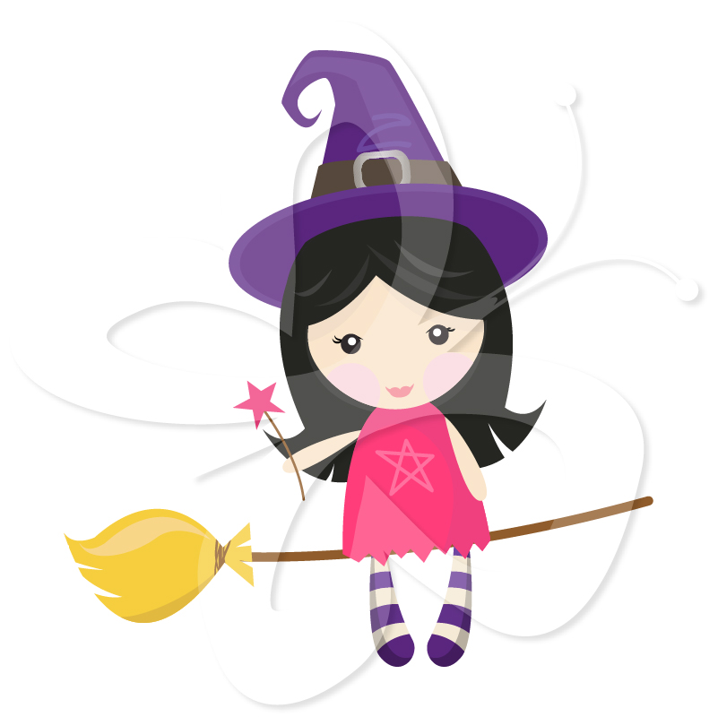 Little Witches - Creative Clipart Collection