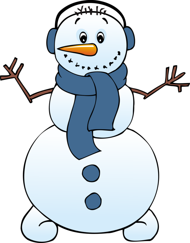 Girl With Snowman Clip Art..