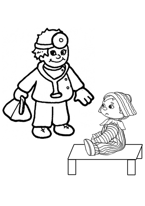 Free Online Doctor and Child Colouring Page - Kids Activity Sheets ...