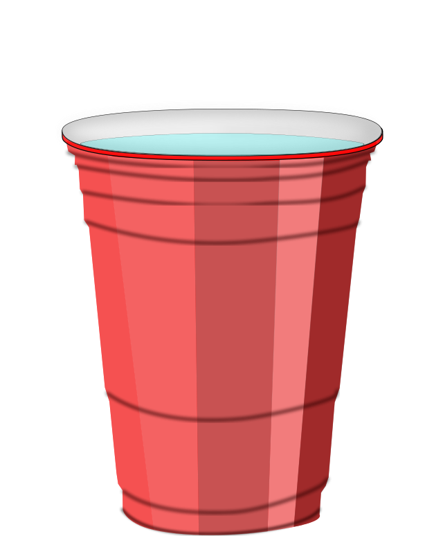 Free Red Plastic Cup of Water Clip Art