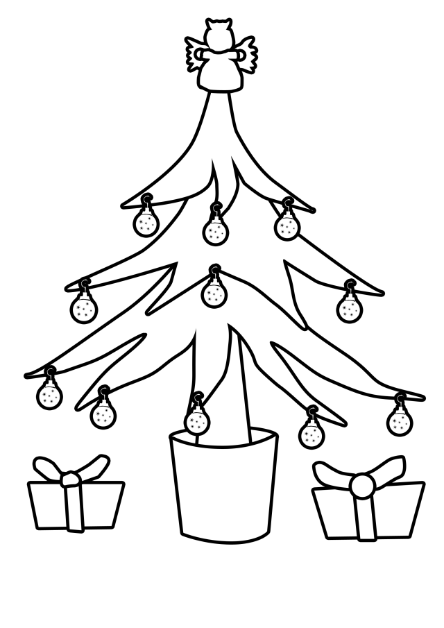 christmas tree outline drawing | HD Wallpaper and Download Free ...