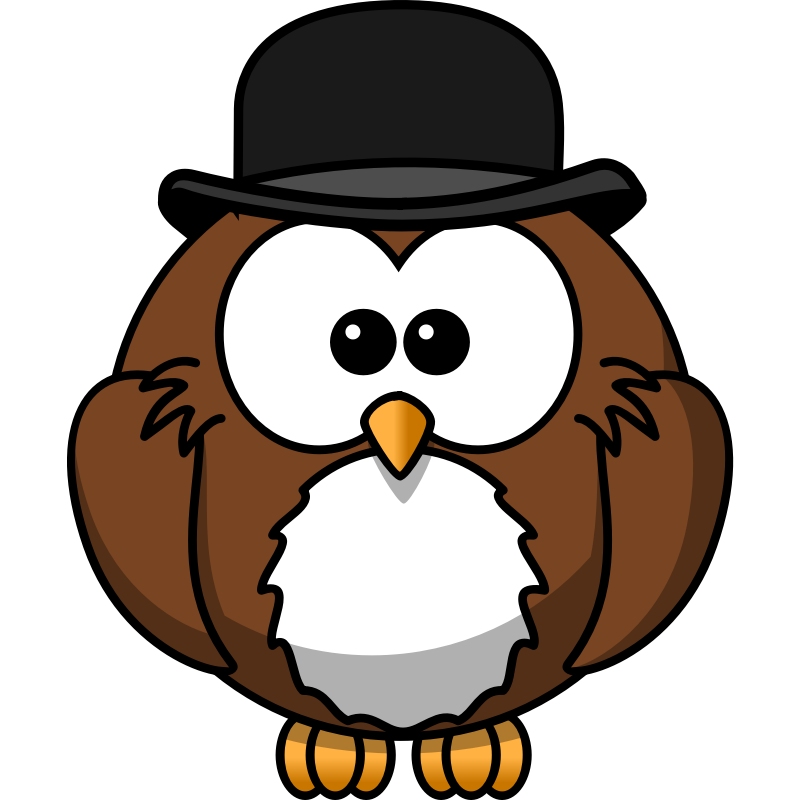 Clipart - Owl with derby
