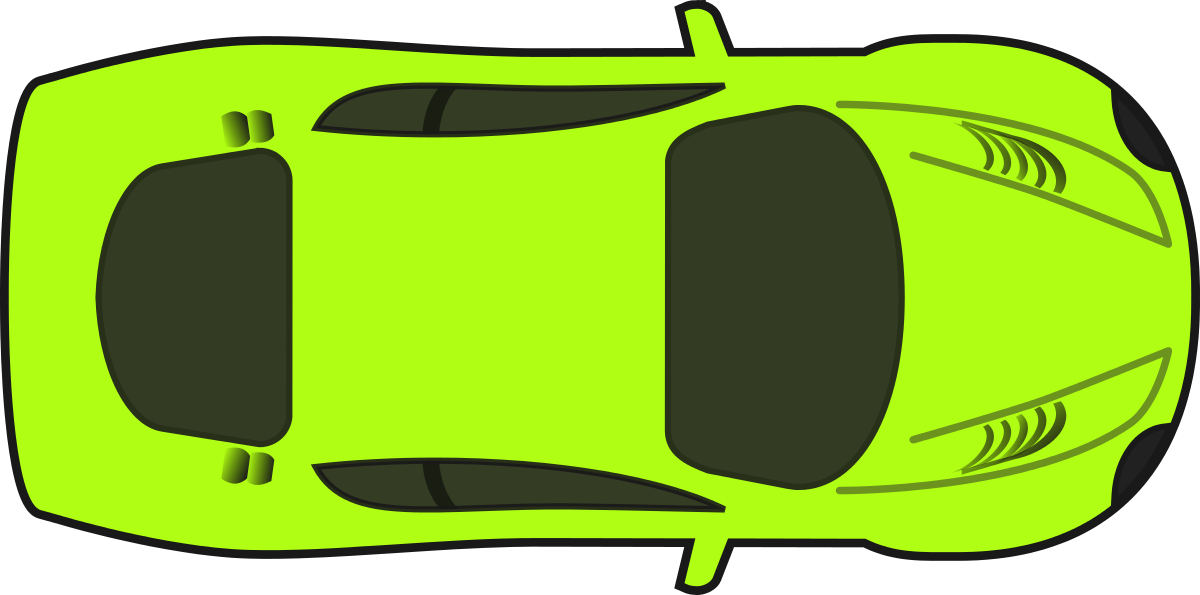 Bright Green Racing Car (Top View) Clipart by qubodup : Car ...