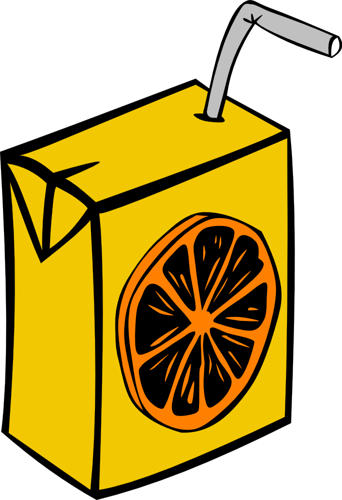 OnlineLabels Clip Art - Orange Juice Box