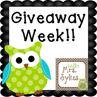 Hello Mrs Sykes - Resources for Teachers: Giveaway Week, Day 6 ...