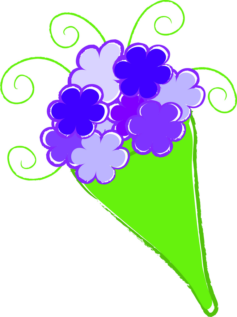 FLOWER BOUQUET CLIP ART. FLOWER BOUQUET