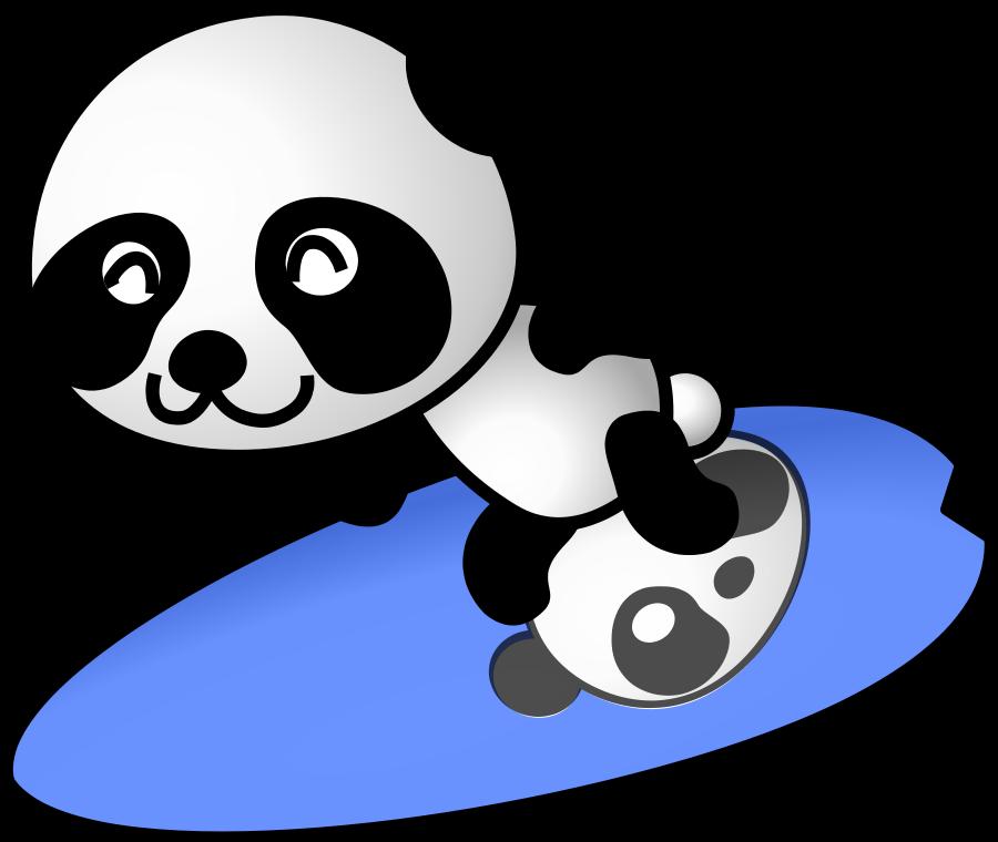clipart panda tennis - photo #6