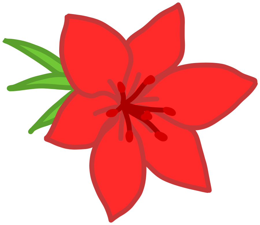 Red Flower Line Drawing : Clipart flower border cliparts