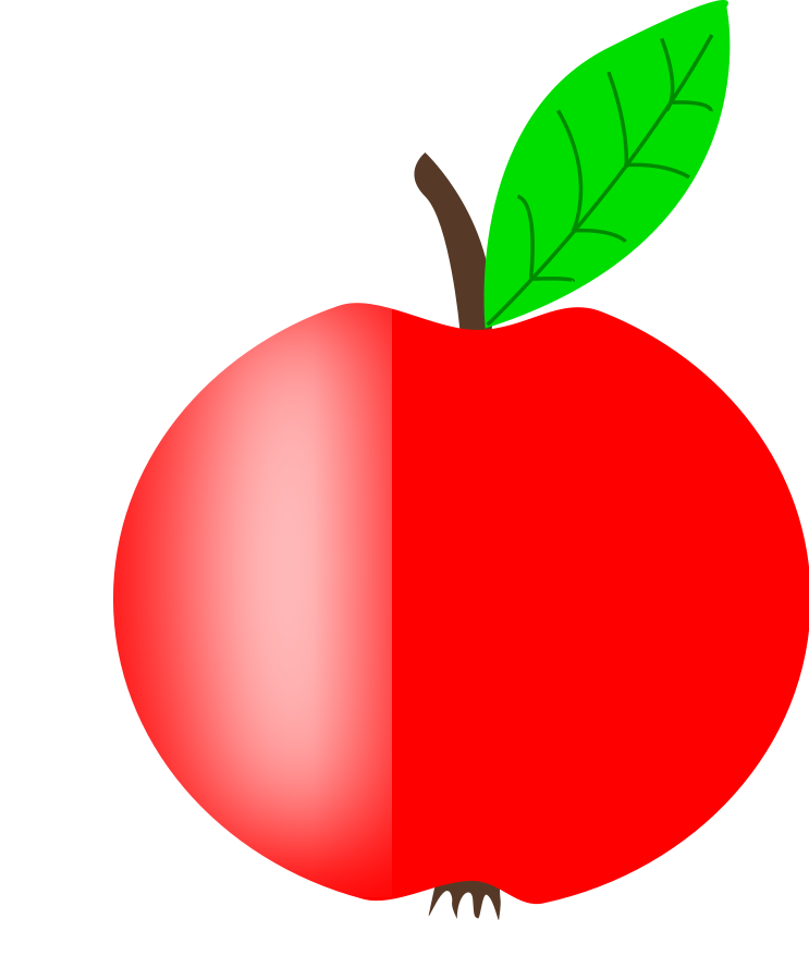 Gradient apple Clipart, vector clip art online, royalty free ...