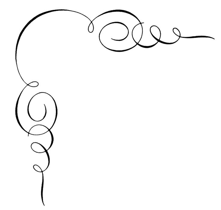 Calligraphy border cliparts