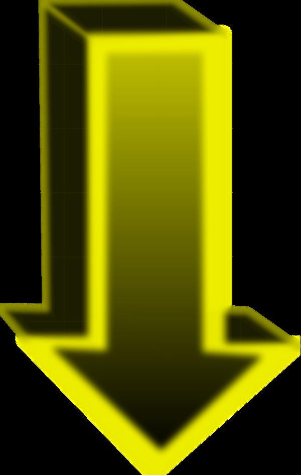 cubic arrow pointing down - vector Clip Art