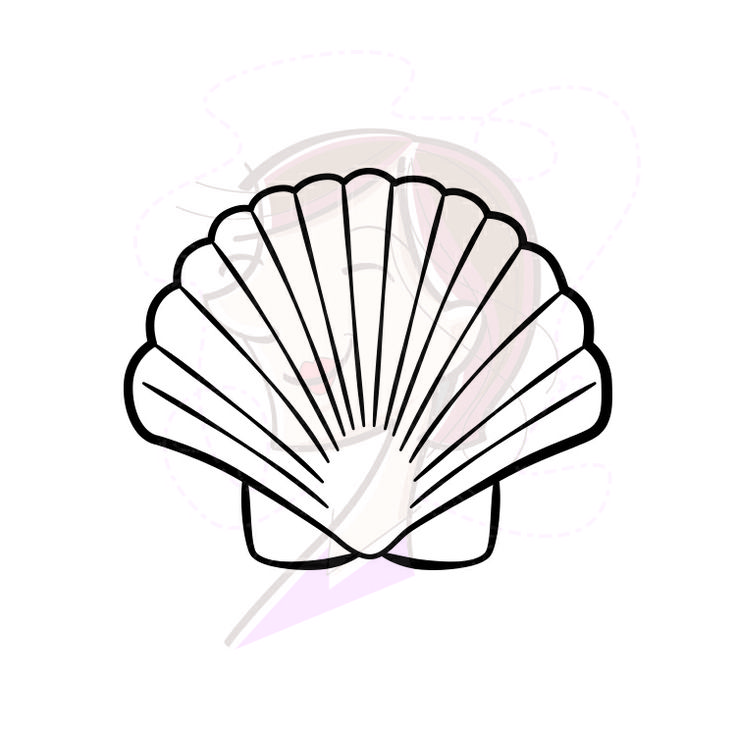 baptism shell coloring pages - photo#26