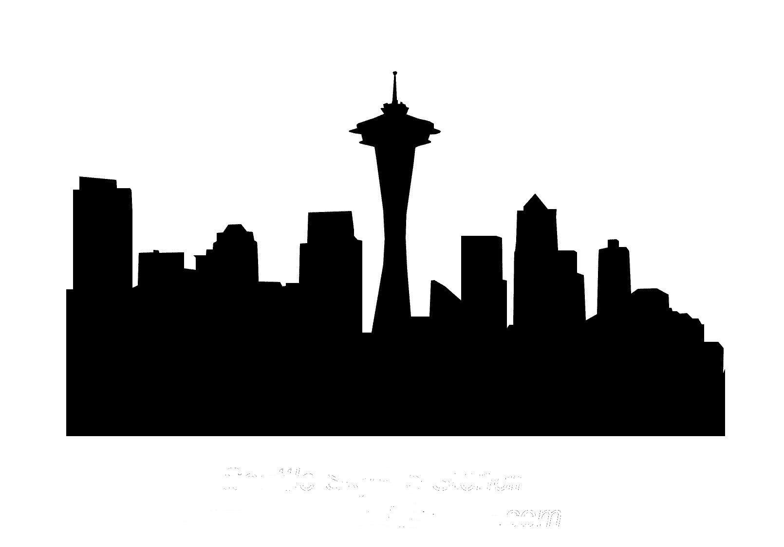 city skyline outline simple - photo #18