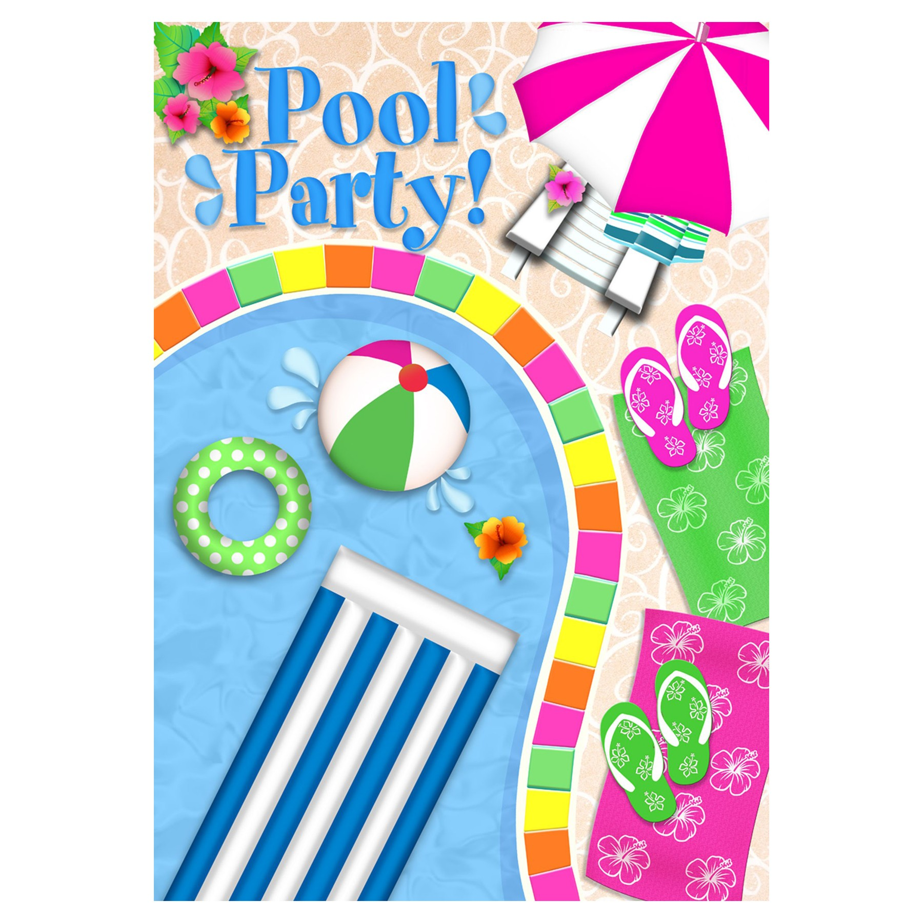 Pool party pictures clip art for Free clipart swimming pool party
