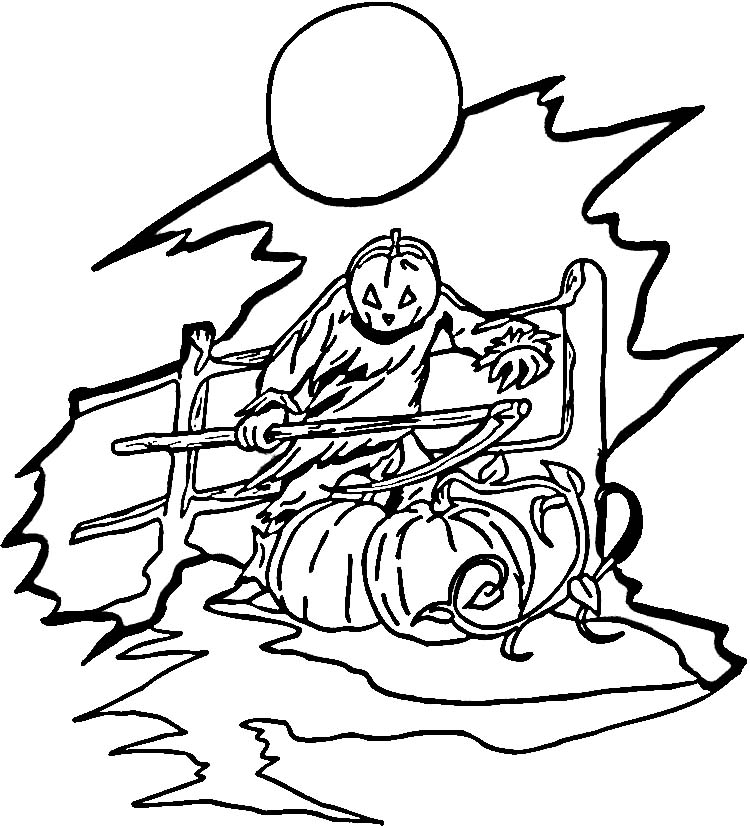 holloween moon coloring pages - photo#20