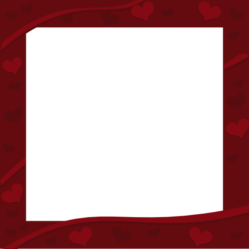 Rich Dark Red Border with Hearts Decor for Valentine's Day | 3D ...