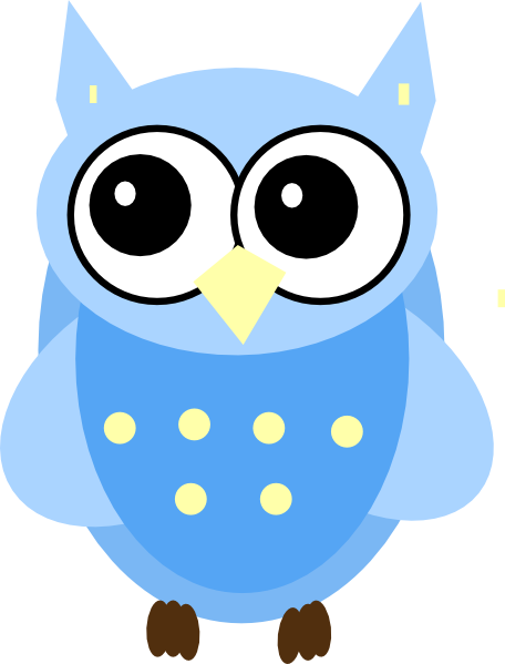 Blue Baby Owl clip art - vector clip art online, royalty free ...