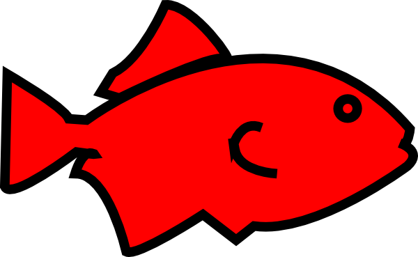 Fish Outline-red clip art - vector clip art online, royalty free ...