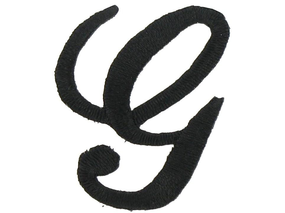 Script Letter G Iron-On Script Letter - G