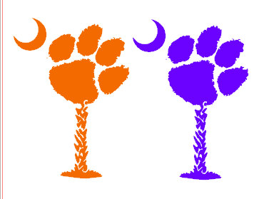 Popular items for clemson paw on Etsy