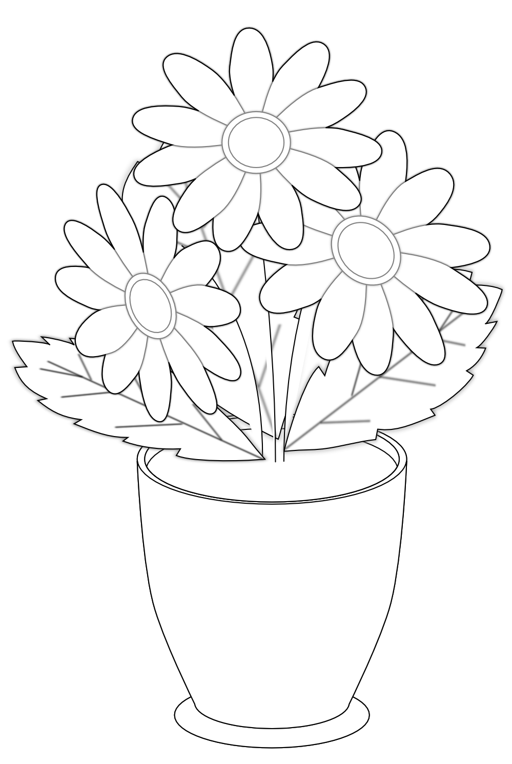 Images of black and white flowers cliparts flowers for black and white flower clipart daisy izmirmasajfo