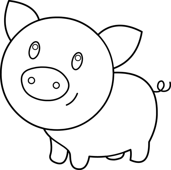 Pig Outline Clip Art - ClipArt Best