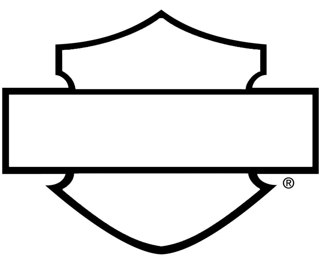 harley davidson logo outline