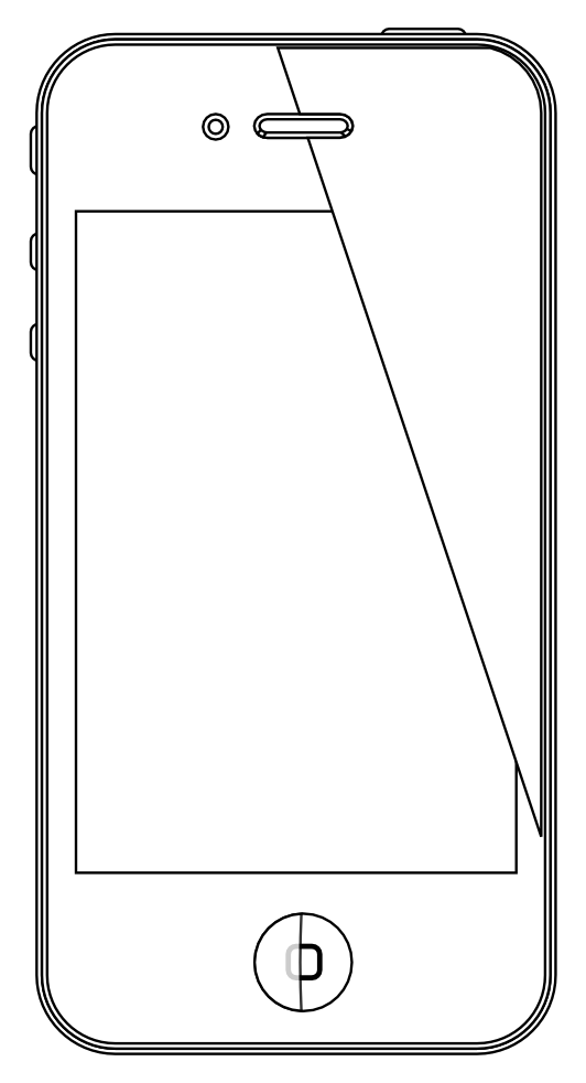 Iphone 4 coloring pages ~ Iphone 4 4s Black White Line Art Scalable Vector Graphics ...