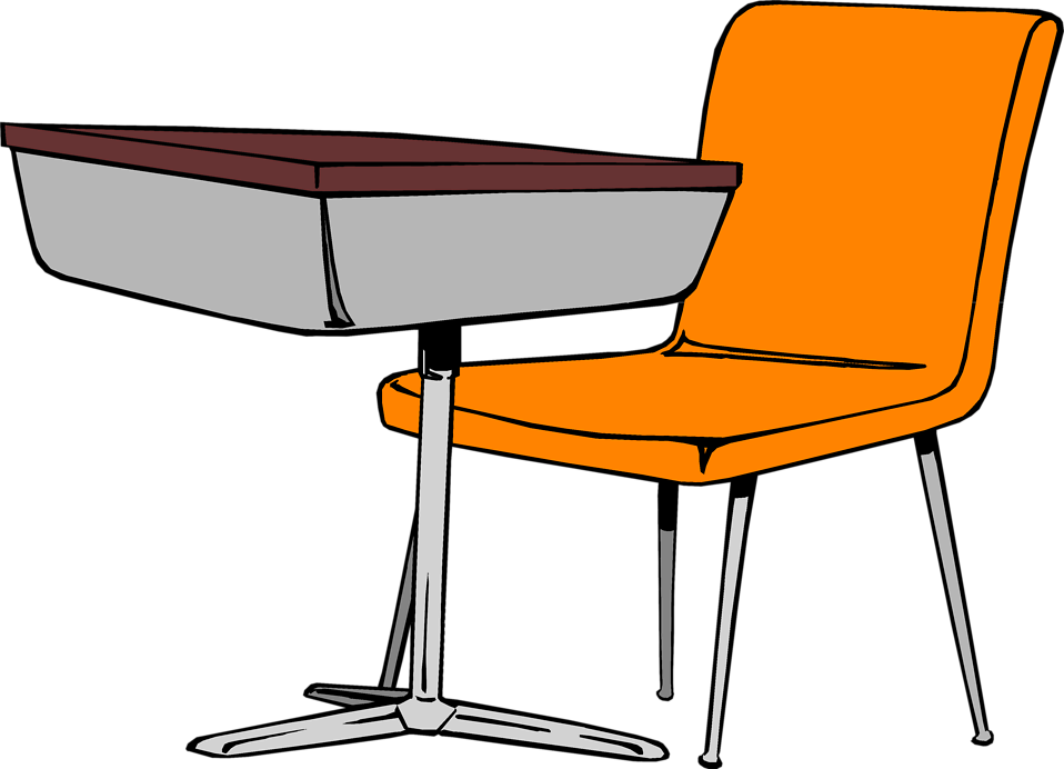Cartoon Student Desk - Cliparts.co
