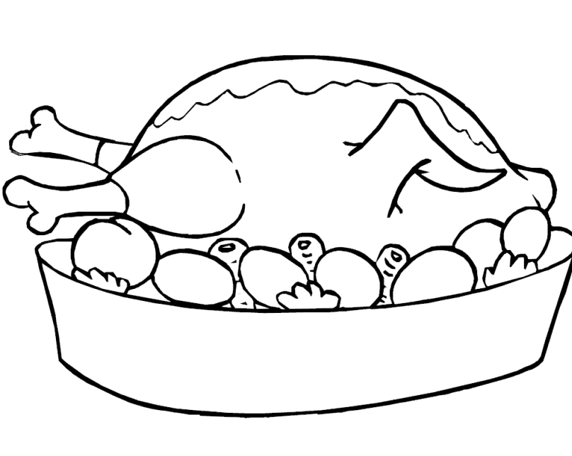 Line Drawing Food : Chicken line art cliparts