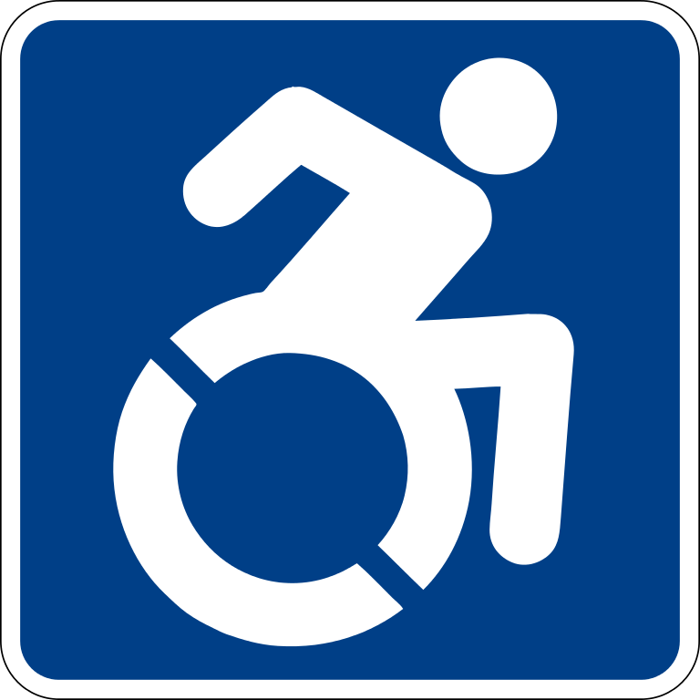 It is a graphic of Satisfactory Printable Handicap Sign