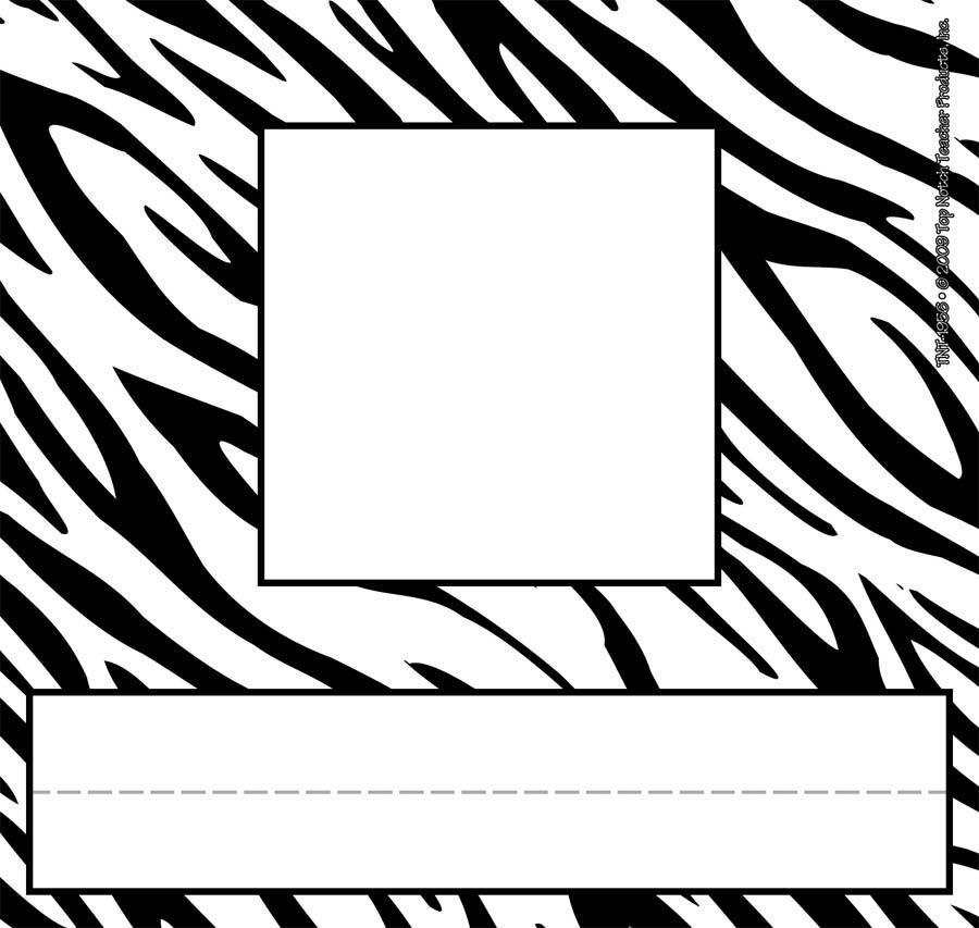 Zebra Print Border Cli...