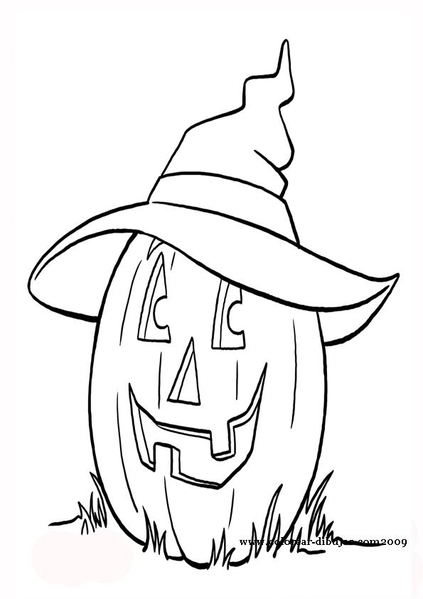 Dibujos infantiles de calabazas de halloween para pintar y - Dibujos infantiles halloween ...