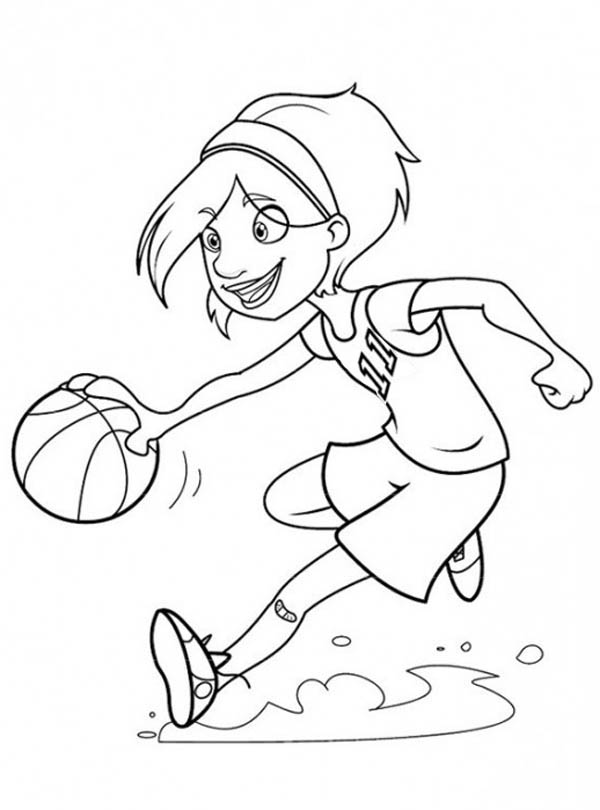 girl basketball coloring pages - photo#8