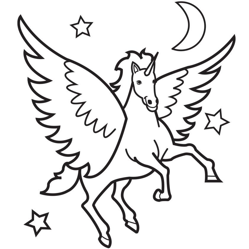 unicorn clipart black and white - photo #46